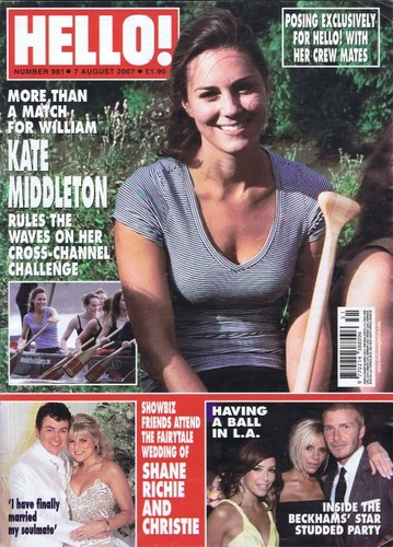 kate middleton magazine covers
