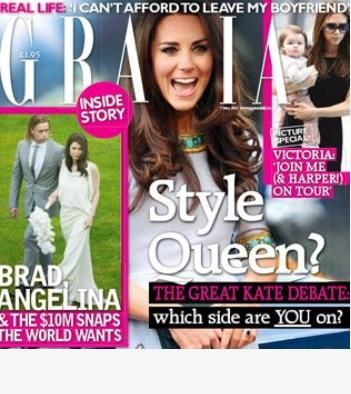 kate middleton magazine covers