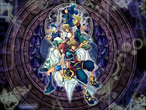 Kingdom Hearts kertas dinding probably containing a stained glass window titled kh 2