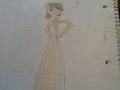 my free-hand sketch of Courtney's prom dress... - total-drama-island fan art