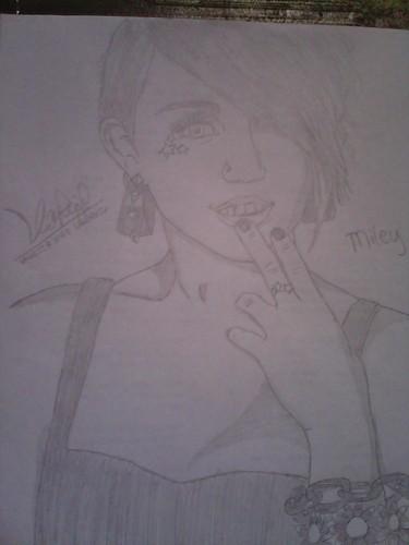 my miley cyrus drawing