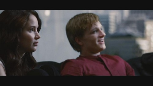 Peeta Mellark Hintergrund containing a portrait called peeta and katniss