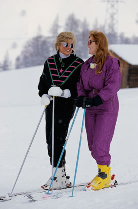 ダイアナ (プリンセス・オブ・ウェールズ) 壁紙 possibly with a クロス country スキー and a ski resort entitled princess diana sarah ferguson
