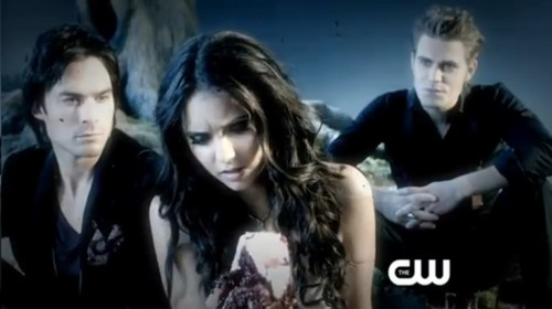 Vampire Diaries karatasi la kupamba ukuta with a portrait called promo tvd