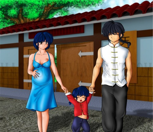 ranma and akane: having a family together