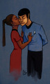 some Vulcan and his girlfriend - spock-and-uhura fan art