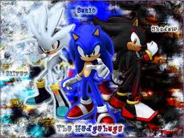 Sonic, Shadow, and Silver wallpaper with anime titled sonic silver and shadow