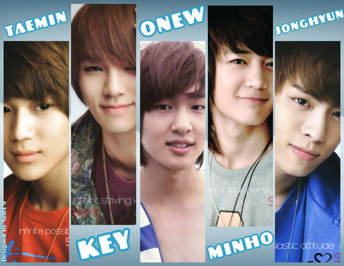 kpop 4ever wallpaper possibly containing a portrait entitled wow! shinee