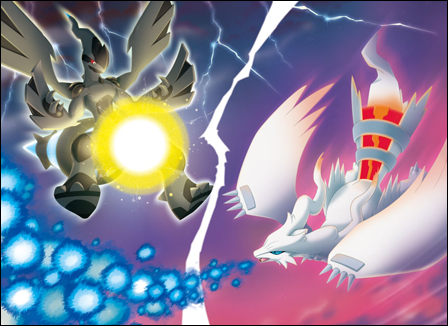 Legendäre Pokemon Hintergrund entitled zekrom and reshiram