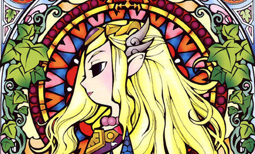 The Legend of Zelda wallpaper probably with a stained glass window and anime titled zelda ww wallpaper