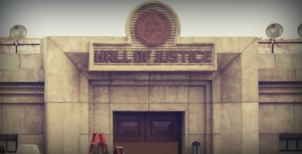 'Catching Fire' Hall of Justice building seen in Atlanta