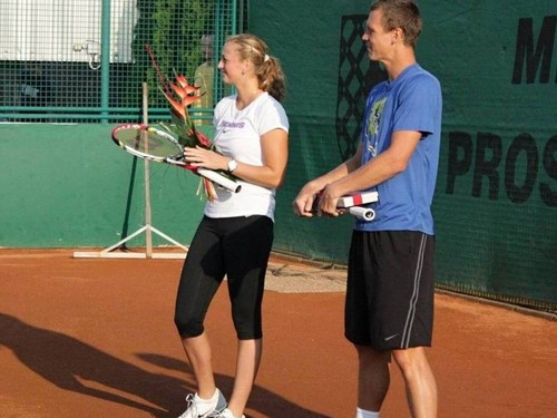 Kvitova Berdych autograph