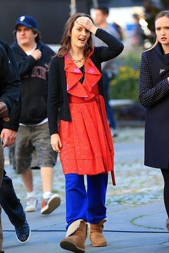 Set photo 01 October - Gossip Girl