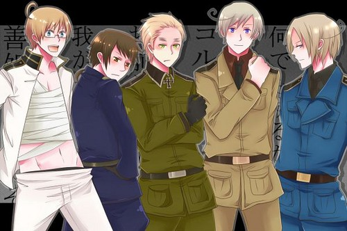 Hetalia wallpaper entitled ~The Allies Switch Clothes With The Axis~