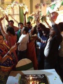 1 年 celebration + sangeet