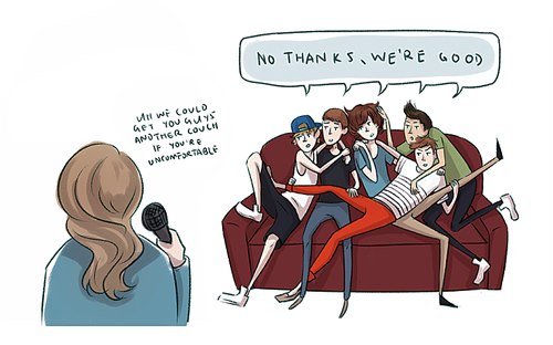 1D cartoon - one-direction Fan Art