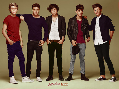One Direction wallpaper containing a well dressed person, long trousers, and bellbottom trousers called 1D ♥