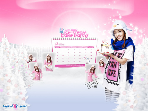 DARA 2NE1 Hintergrund probably containing a sign and a konzert titled 2ne1 baskin robbins