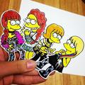 2ne1 simpsons - dara-2ne1 fan art