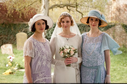 Lady Sybil Crawley wallpaper with a bridesmaid titled 3x03
