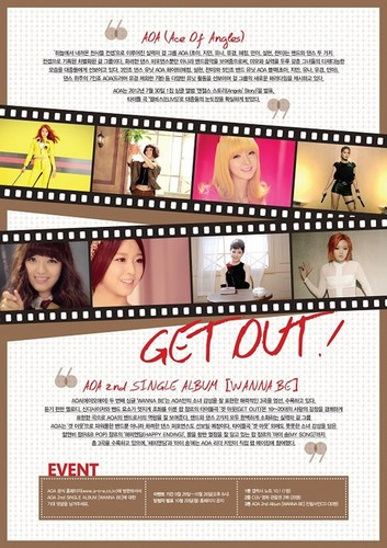 "AOA 2nd Single ""WannaBe"" Get out"