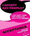 Acceptance has no exceptions - lgbt photo