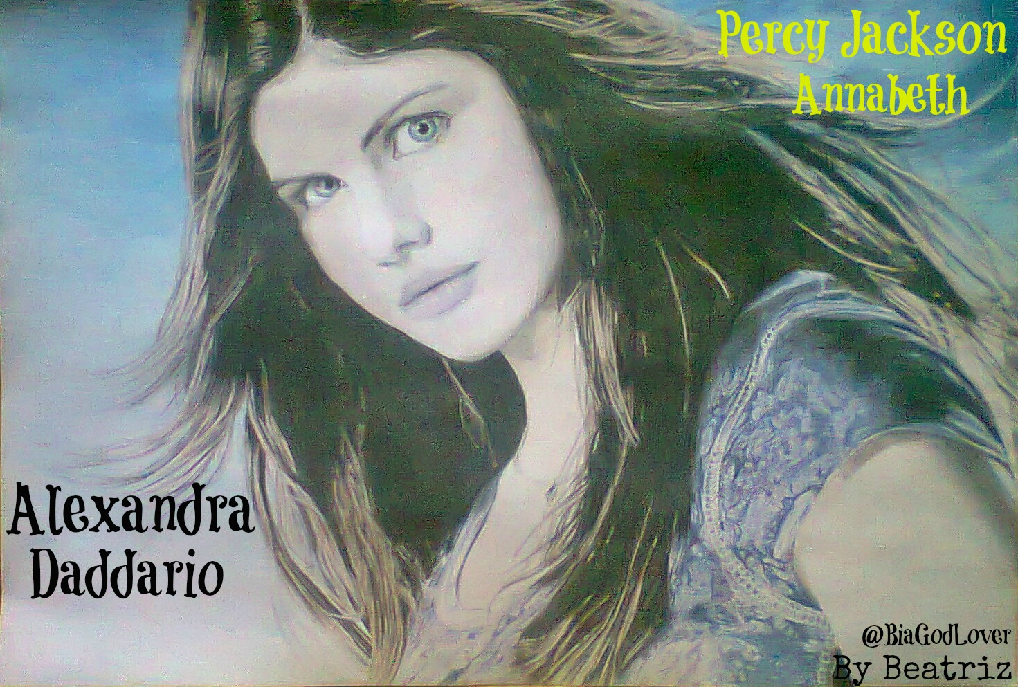 Alexandra daddario drawing annabeth percy jackson percy jackson and
