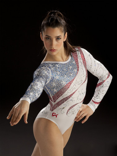 Gymnastics wallpaper probably containing a leotard called Aly Raisman