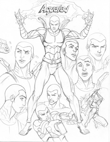 Aqualad Drawings