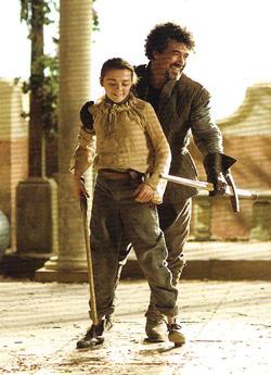 Arya Stark & Syrio Forel- BTS picha