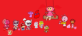 Babys Uniqua Lammy Cashmere Paula Magenta Pinky Bubblegum Milli pfirsich Amy Blinky Mario & Colby