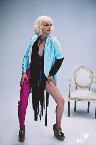 andrej pejic wallpaper probably containing a stole entitled Behind the Scenes: Andrej Pejic for Black Magazine