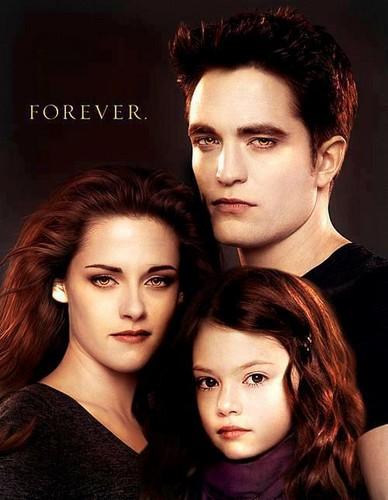Bella,Edward & Renesmee