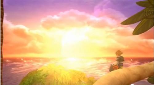 Sora wallpaper possibly with a sunset called Birth por Sleep Secret Ending