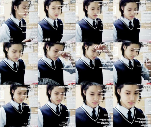 Black Hair Taemin in uniform - shinee Photo