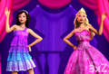 Brunette Keira with Tori in To Be A Princess/To Be A Popstar - barbie-the-princess-and-the-popstar photo