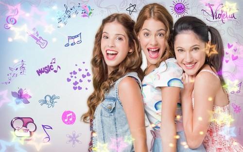 Cami, Violetta y Francesca