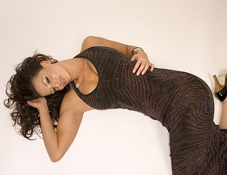 Candice Michelle wolpeyper possibly with tights titled Candice Michelle Photoshoot Flashback