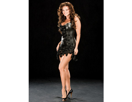 Candice Michelle 壁纸 probably with a bustier, a leotard, and a maillot titled Candice Michelle Photoshott Flashback