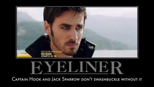 Once Upon A Time wallpaper titled Captain Hook- Eyeliner