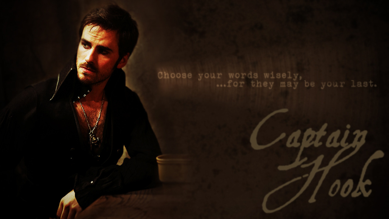 """once upon a time captain hook quotes Captain swan emma swan killian jones captain swan quotes captain hook once upon a time mine reposting from myself 31 notes reblog """"there's."""