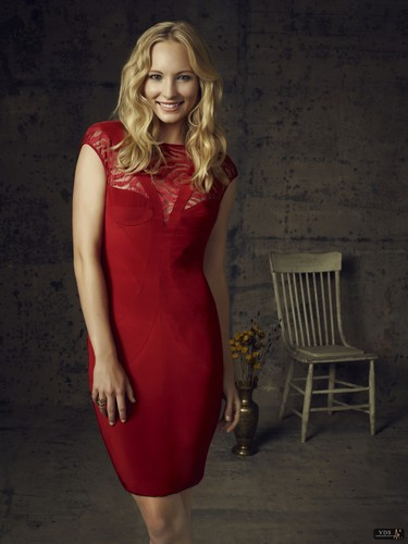 Caroline Forbes wallpaper containing a cocktail dress titled Caroline || Season 4 promotional photo.