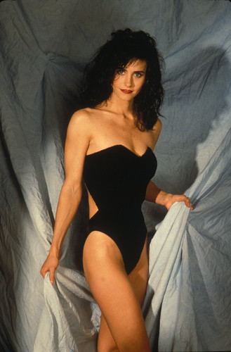 courtney cox wallpaper probably containing a maillot titled Charles W. semak, bush Photoshoot