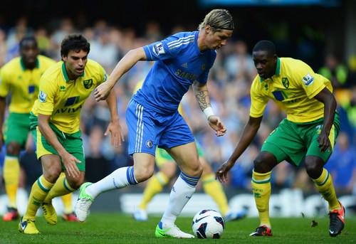 चेल्सी एफ सी वॉलपेपर with a सॉकर ball titled Chelsea - Norwich, 06.10.2012, Premier League