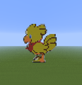 Chocobo. - minecraft-pixel-art fan art