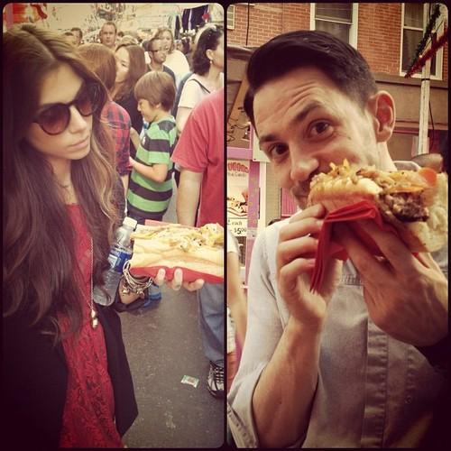 Christina, Steve, and sandwiches