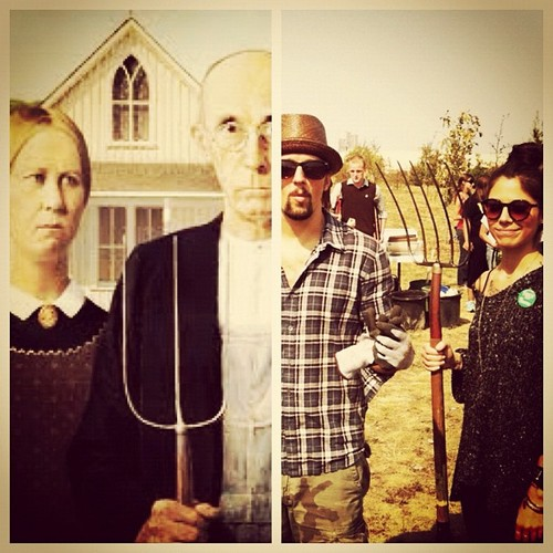 Christina and jason: American Gothic