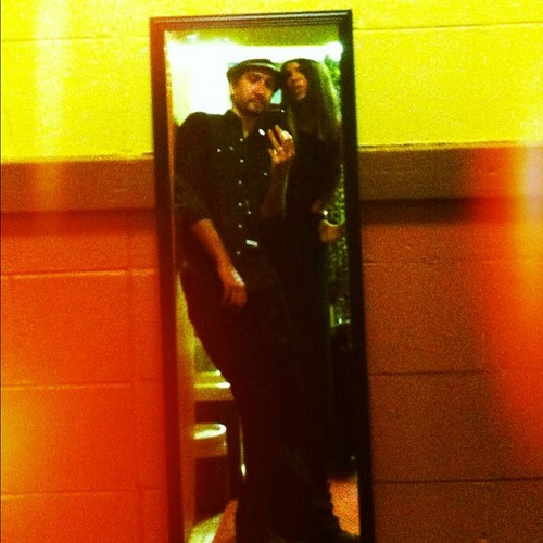Christina and johnny in a mirror