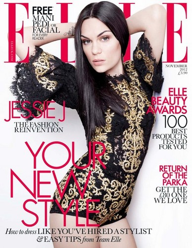 Cover of Elle UK's November Issue 2012