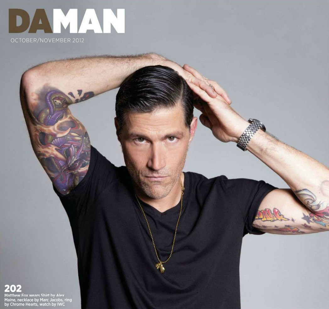 Daman magazine matthew fox photo 32392032 fanpop for Jacks tattoo lost